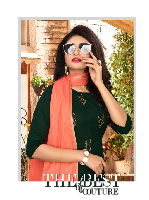 nari vol 10 rijiya trends cotton kurti with banarsi dupatta collection 12