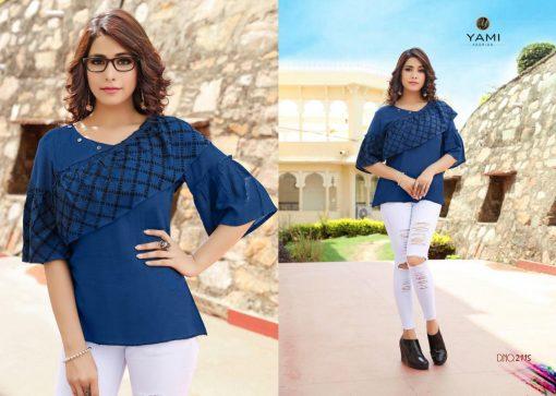 yami fashion topsy vol 6 rayon stylish short tops wholesale rate 2