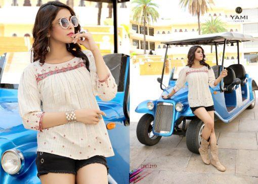 yami fashion topsy vol 6 rayon stylish short tops wholesale rate 4