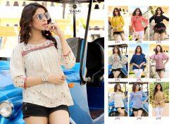 yami fashion topsy vol 6 rayon stylish short tops wholesale rate 17