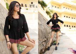 yami fashion topsy vol 6 rayon stylish short tops wholesale rate 19