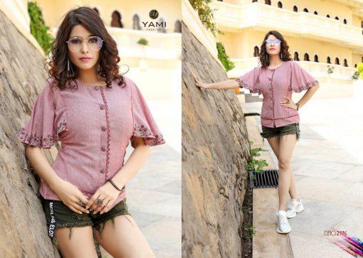 yami fashion topsy vol 6 rayon stylish short tops wholesale rate 8