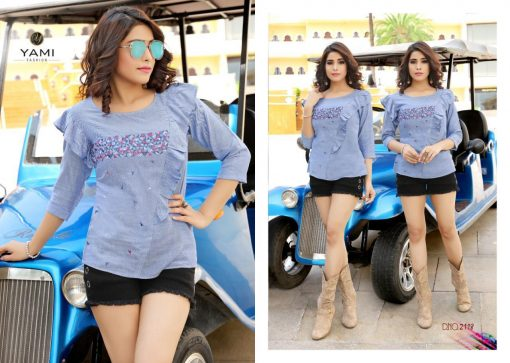 yami fashion topsy vol 6 rayon stylish short tops wholesale rate 10