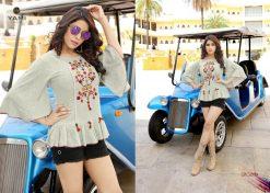 yami fashion topsy vol 6 rayon stylish short tops wholesale rate 23