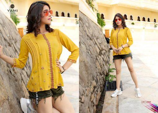 yami fashion topsy vol 6 rayon stylish short tops wholesale rate 12