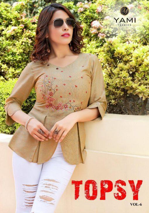 yami fashion topsy vol 6 rayon stylish short tops wholesale rate 1