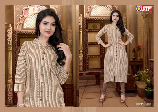 STF launch feel fresh south cotton with princess cut and pocket kurti 2