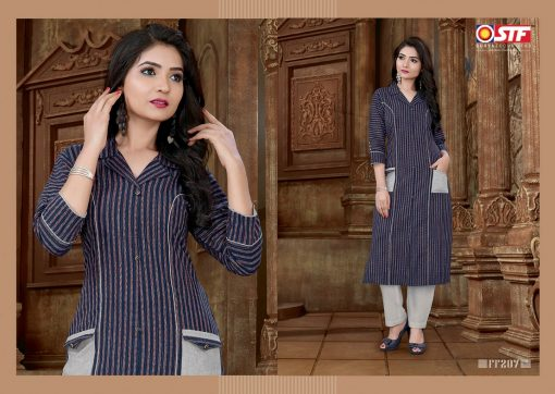 STF launch feel fresh south cotton with princess cut and pocket kurti 4