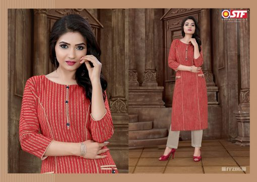 STF launch feel fresh south cotton with princess cut and pocket kurti 5