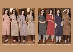 STF launch feel fresh south cotton with princess cut and pocket kurti 16