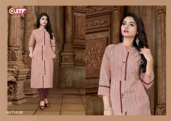 STF launch feel fresh south cotton with princess cut and pocket kurti 17
