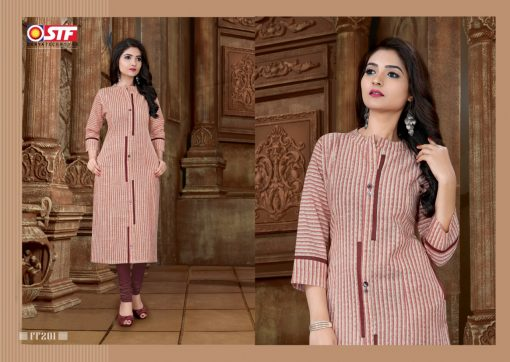 STF launch feel fresh south cotton with princess cut and pocket kurti 7