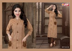 STF launch feel fresh south cotton with princess cut and pocket kurti 18