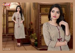 STF launch feel fresh south cotton with princess cut and pocket kurti 19