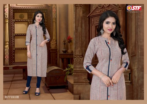 STF launch feel fresh south cotton with princess cut and pocket kurti 10