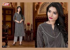 STF launch feel fresh south cotton with princess cut and pocket kurti 21