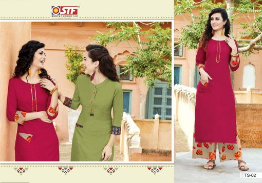 STF launch thats my swag rayon kurti with plazzo online shopping 6