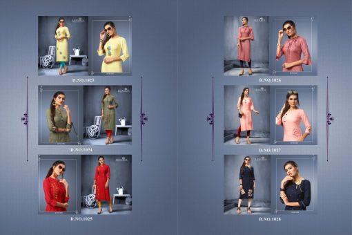 Luxuria desire designer heavy rayon casual kurti collection 2