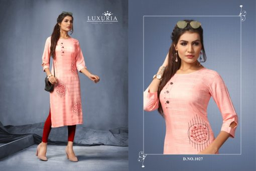 Luxuria desire designer heavy rayon casual kurti collection 3