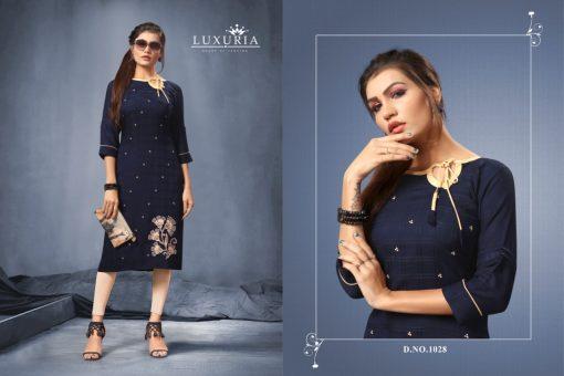 Luxuria desire designer heavy rayon casual kurti collection 4