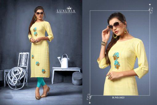 Luxuria desire designer heavy rayon casual kurti collection 5