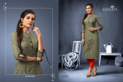 Luxuria desire designer heavy rayon casual kurti collection 14