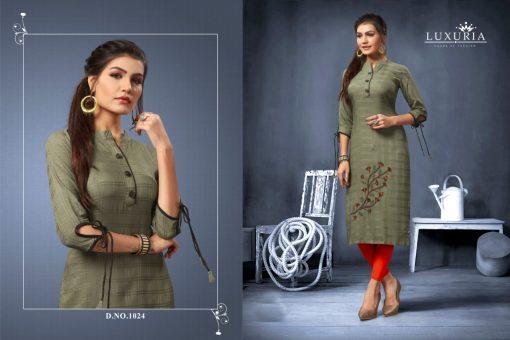 Luxuria desire designer heavy rayon casual kurti collection 6