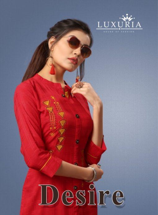 Luxuria desire designer heavy rayon casual kurti collection 1