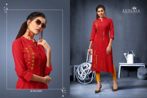 Luxuria desire designer heavy rayon casual kurti collection 9