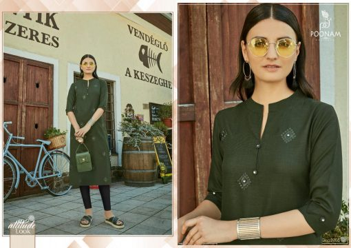 POONAM DESIGNER ASIANA VOL 2 CASUAL WEAR KURTI WITH MIRROR WORK TRADER 2