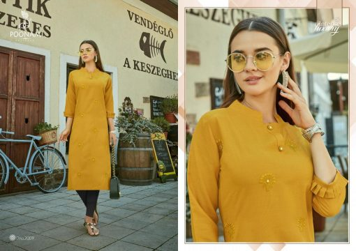 POONAM DESIGNER ASIANA VOL 2 CASUAL WEAR KURTI WITH MIRROR WORK TRADER 4