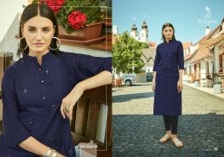 POONAM DESIGNER ASIANA VOL 2 CASUAL WEAR KURTI WITH MIRROR WORK TRADER 21