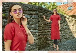 POONAM DESIGNER ASIANA VOL 2 CASUAL WEAR KURTI WITH MIRROR WORK TRADER 23