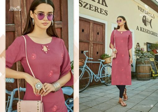POONAM DESIGNER ASIANA VOL 2 CASUAL WEAR KURTI WITH MIRROR WORK TRADER 9