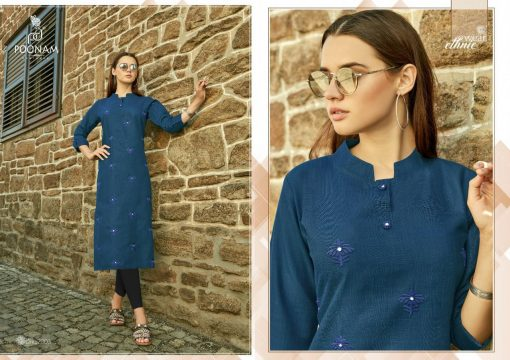 POONAM DESIGNER ASIANA VOL 2 CASUAL WEAR KURTI WITH MIRROR WORK TRADER 12