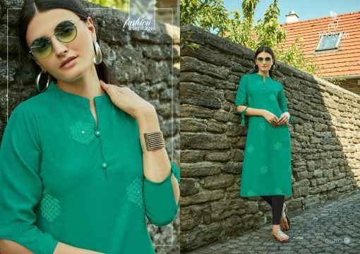 POONAM DESIGNER ASIANA VOL 2 CASUAL WEAR KURTI WITH MIRROR WORK TRADER 14