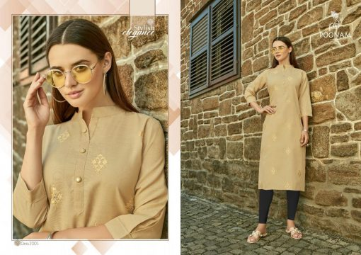 POONAM DESIGNER ASIANA VOL 2 CASUAL WEAR KURTI WITH MIRROR WORK TRADER 15