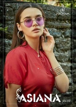 POONAM DESIGNER ASIANA VOL 2 CASUAL WEAR KURTI WITH MIRROR WORK TRADER 31