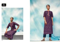 FOUR BUTTONS OCEAN CATALOGUE PURE COTTON EMBROIDERY WORK FULLY STITCH KURTIS 15