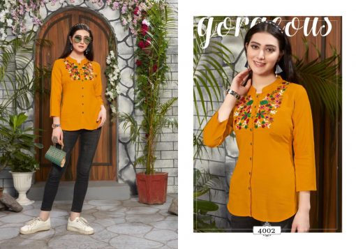 riya designer compass vol 4 embroidered short top online shopping 3