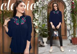 riya designer compass vol 4 embroidered short top online shopping 13