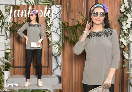 riya designer compass vol 4 embroidered short top online shopping 6