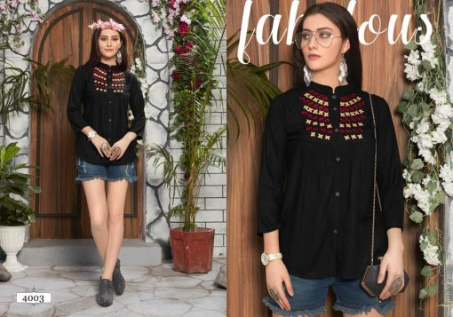 riya designer compass vol 4 embroidered short top online shopping 7