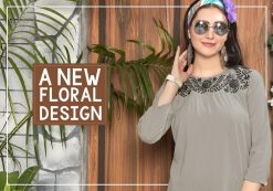 riya designer compass vol 4 embroidered short top online shopping 17