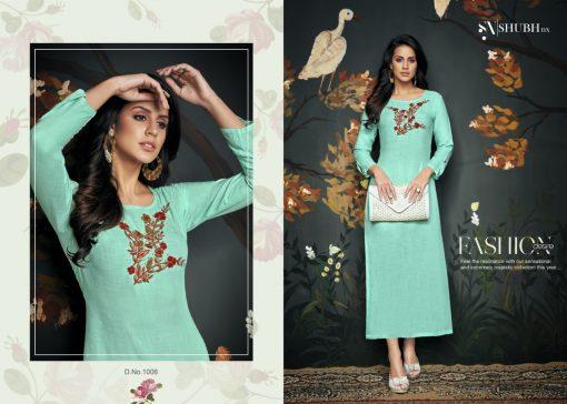 shubh NX asmita reyon sitara work style fancy kurti seller 11