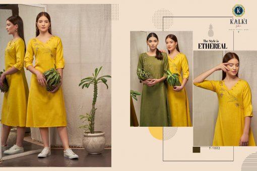 Kalki Fashion Sanskar Pure Cotton Latest Kurti Outfit In Surat 3