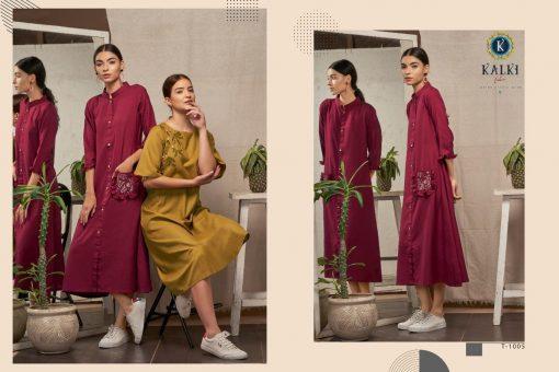Kalki Fashion Sanskar Pure Cotton Latest Kurti Outfit In Surat 11