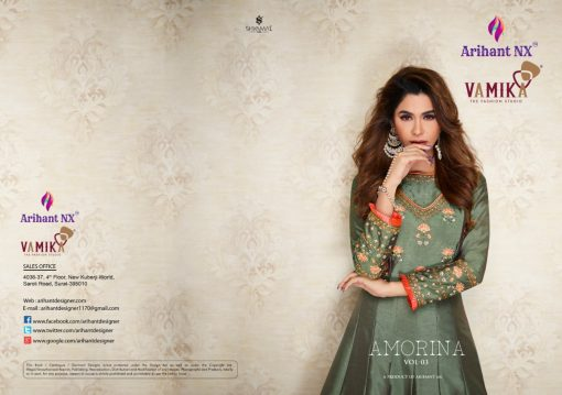 arihant nx amorina-3 long gown style kurtis collection online seller full catalog 4