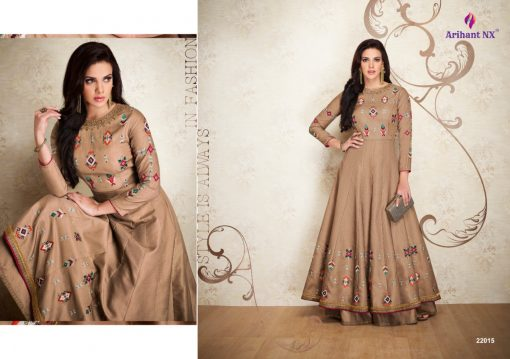 arihant nx amorina-3 long gown style kurtis collection online seller full catalog 5