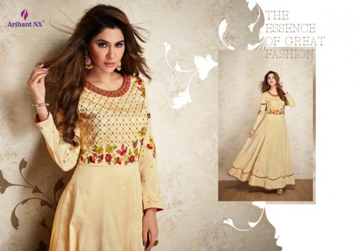 arihant nx amorina-3 long gown style kurtis collection online seller full catalog 6